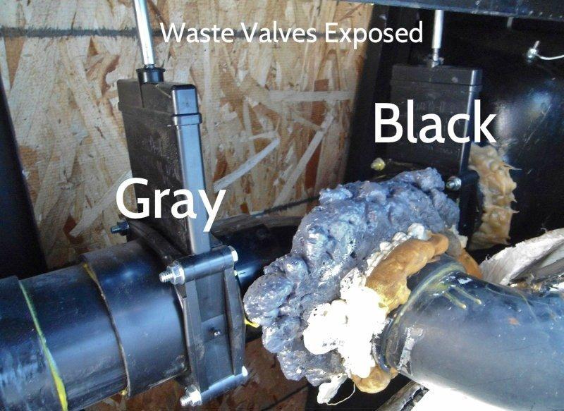 RV Waste Tank Valve Replacement in Keystone Cougar 276RLS Trailer