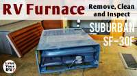 Suburban RV Furnace Removal Inspection and Cleaning
