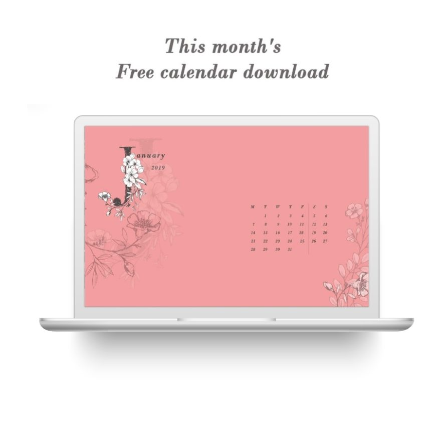 Download Your January 2019 Digital Calendar Lovilee Blog