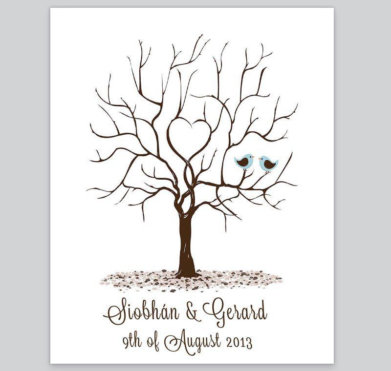 Fingerprint Tree - Design 4 - Loving Invitations