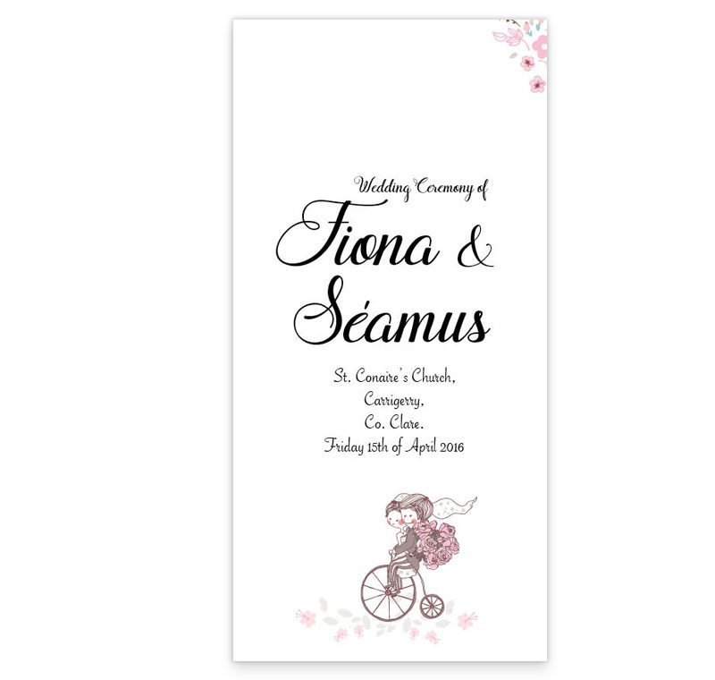 Smitten Couple Wedding Ceremony Booklet - Loving Invitations