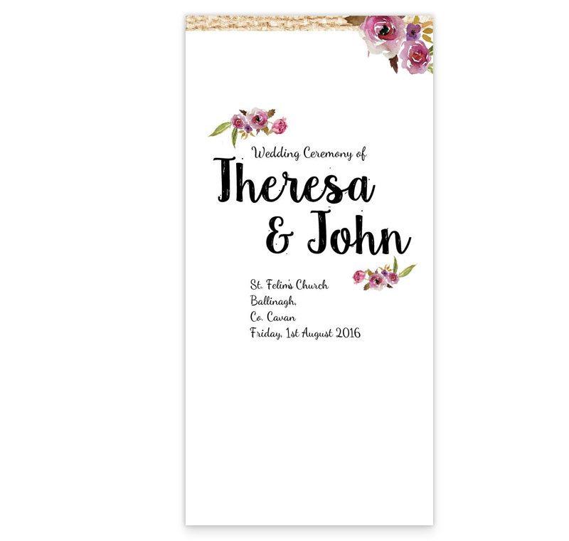 Antique Floral Wedding Ceremony Booklet - Loving Invitations