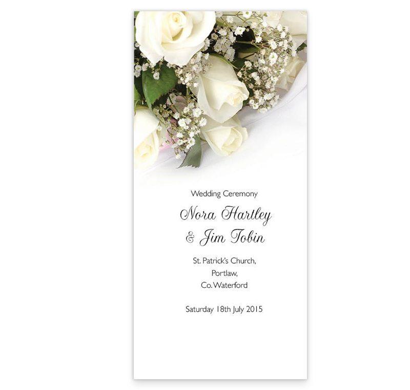 Wedding Bands  Flowers Wedding Ceremony Booklet - Loving Invitations