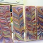 slab soap swirling