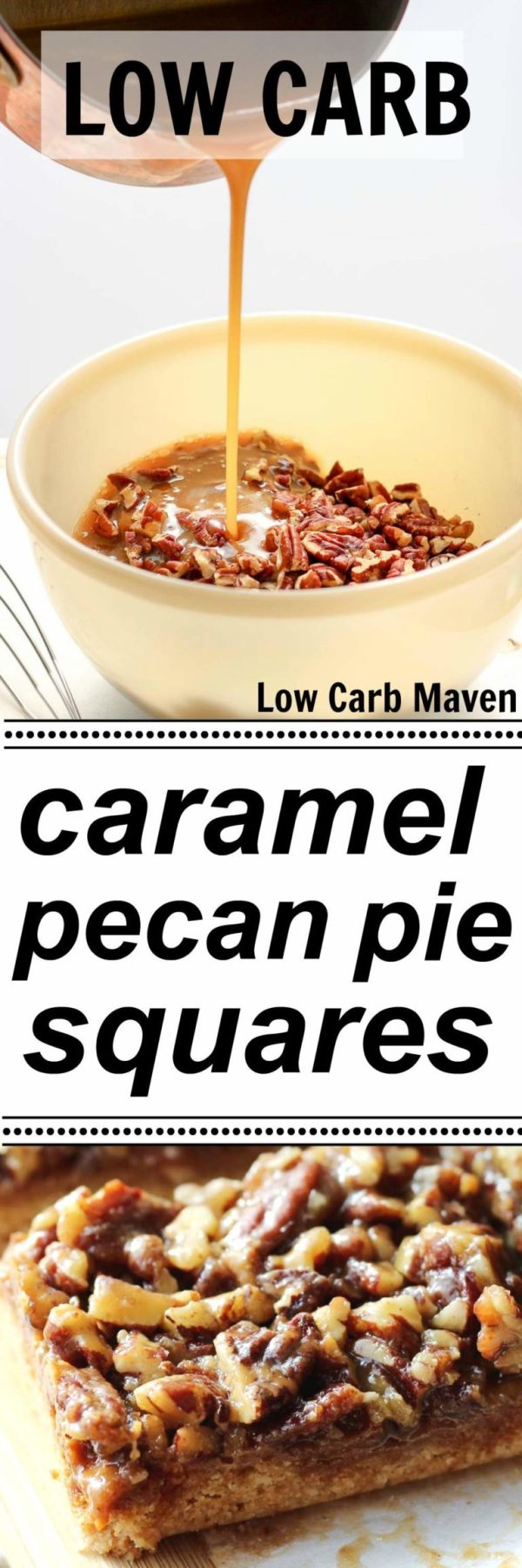 Low Carb Caramel Pecan Pie Squares are sugar free, gluten free and ...