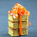 Moist Low-Carb Pumpkin Bars, Pile with Orange Ribbon   Low Carb, So Simple!