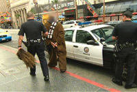 Stormtroopers capture brave Chewbacca