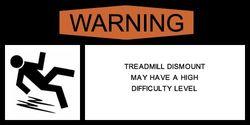 Treadmill warning label