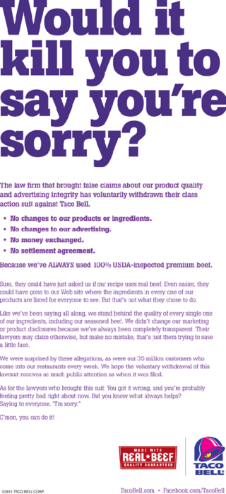Would it kill you to say you're sorry?