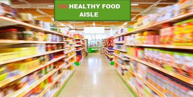 unhealthy food aisle