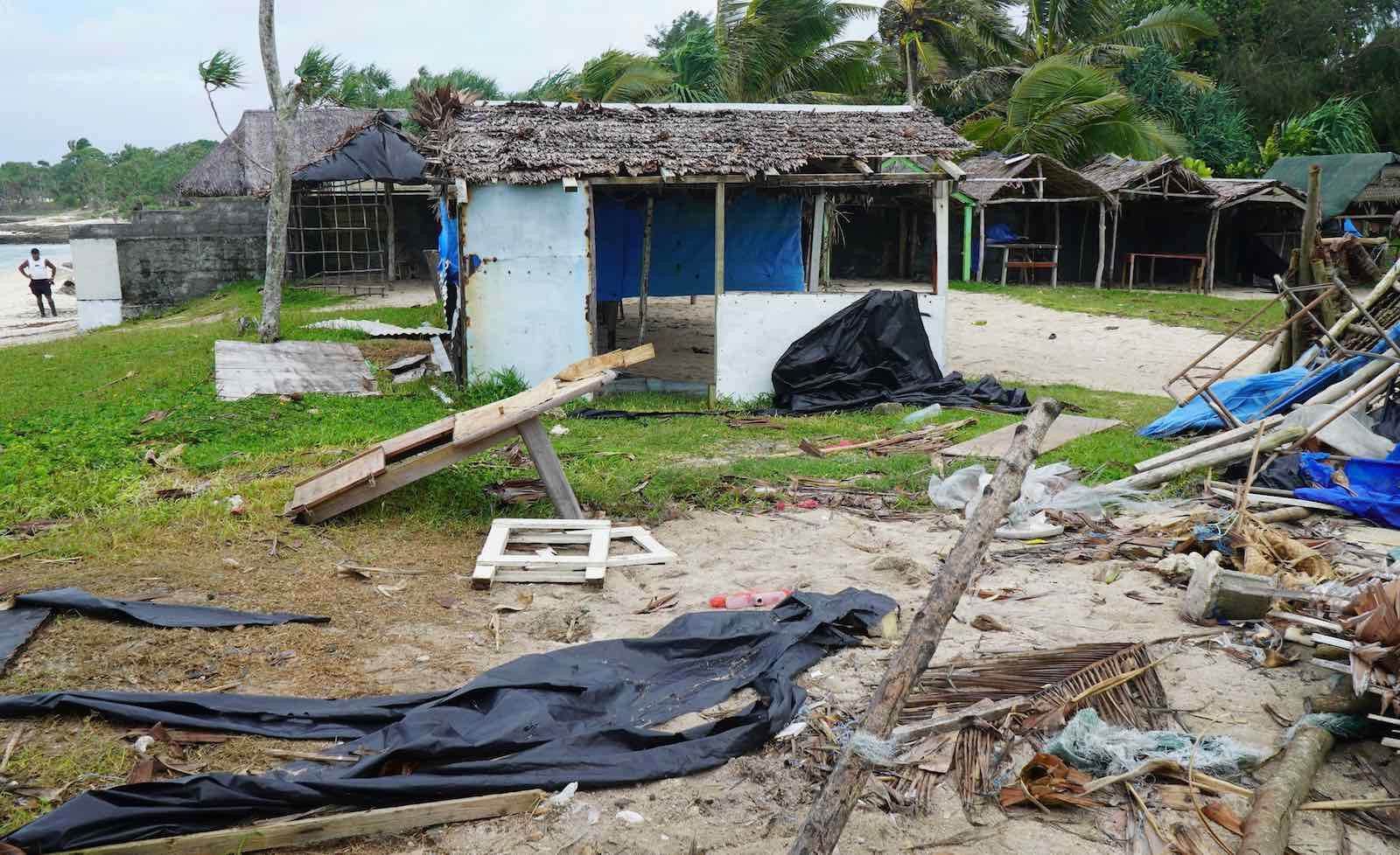 Damaged buildings near Vanuatu's capital of Port Vila on 7 April (Philippe Carillo/AFP/Getty Images)