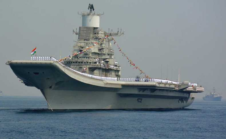 INS Vikramaditya, India's domestically constructed aircraft carrier (STR/AFP via Getty Images)
