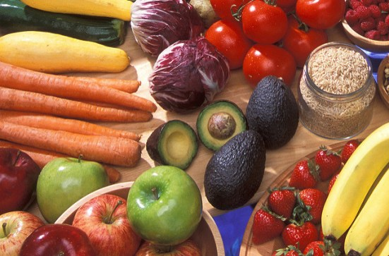 Avocados with other fruits and vegetables, used under CC 2.0