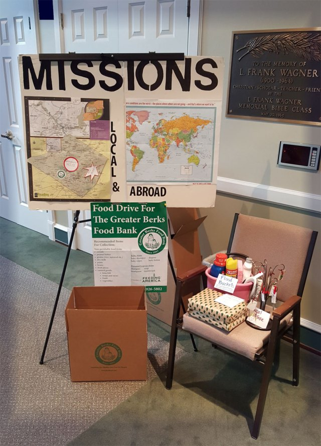 Missions Committee 2016 Food Drive