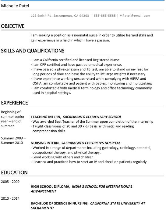 Top 3 Resume Examples for International Students Studying in the US - resume language skills example