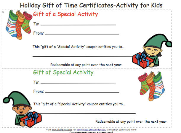Creating a Funny Gift Certificate - printable christmas certificates
