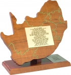 "Honorary Award — Leeuwkop Prison: Presented to L. Ron Hubbard by the inmates of South Africa's Leeuwkop Prison in acknowledgment of his criminal reform technology: ""You have brought hope to the lives of many. You have changed our South African prisons of pain and sorrow to places of hope and life."""