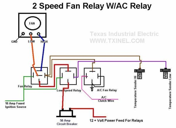 electric fan relay wiring diagram with air