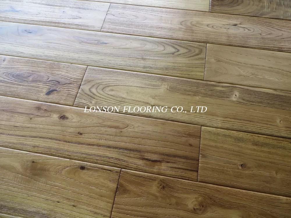 Asian Teak Solid Hardwood Flooring Natural Color And