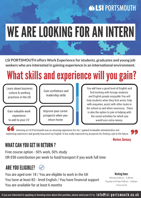 We are Looking for an Intern - LSI Portsmouth - looking for an internship