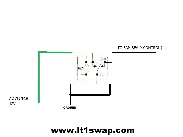 cooling fan relay wiring diagram for lsx