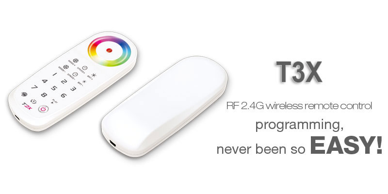 t3x 24g rf wireless programmable rgb led touch controller