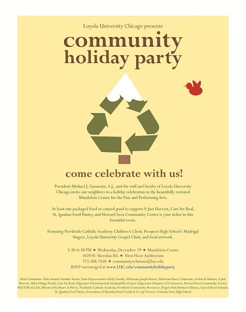 Community Holiday Party Community Relations Loyola University Chicago