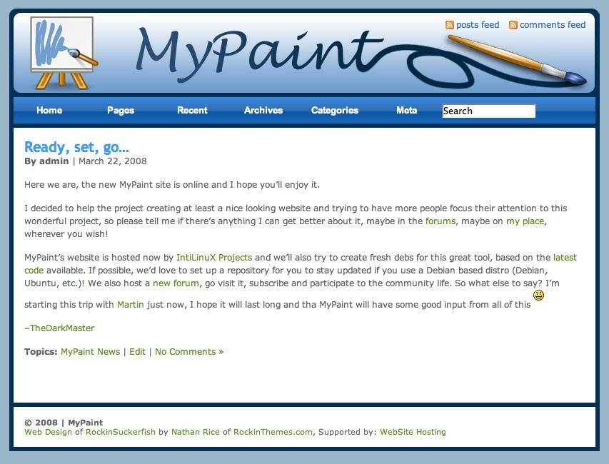 Opens MyPaint's Website :)