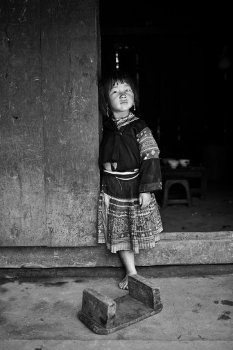 A young H'Mong girl in a small village near Sapa. Vietnam. 2007