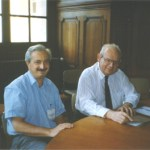 Paris 1998, with Benoit B. Mandelbrot