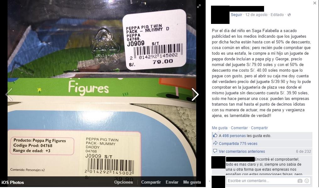 Usuario denuncia maniobra de precios en saga falabella for Saga falabella ofertas