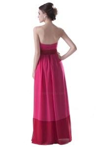 Empire Strapless Long Chiffon Bridesmaid Dresses/Wedding ...