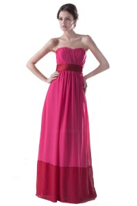 Empire Strapless Long Chiffon Bridesmaid Dresses/Wedding ...