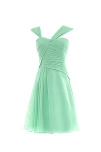 Short/Mini Mint Green Chiffon Bridesmaid Dresses/Wedding ...
