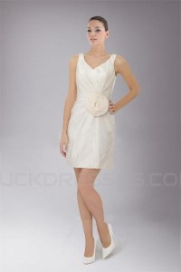 Short/Mini White Chiffon Bridesmaid Dresses/Wedding Party ...