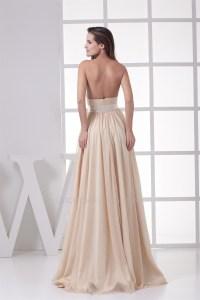 Floor-Length Chiffon Silk like Satin A-Line Long ...
