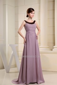 A-Line Chiffon Floor Length Mother of the Bride Dresses ...