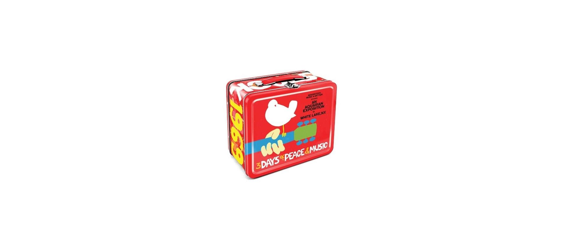 Aquarius Woodstock Metal Tin Lunch Box Luckymusic