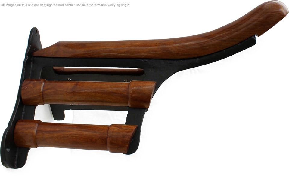 Cast Iron And Wood Saddle Rack Luxury Tack Room Horse
