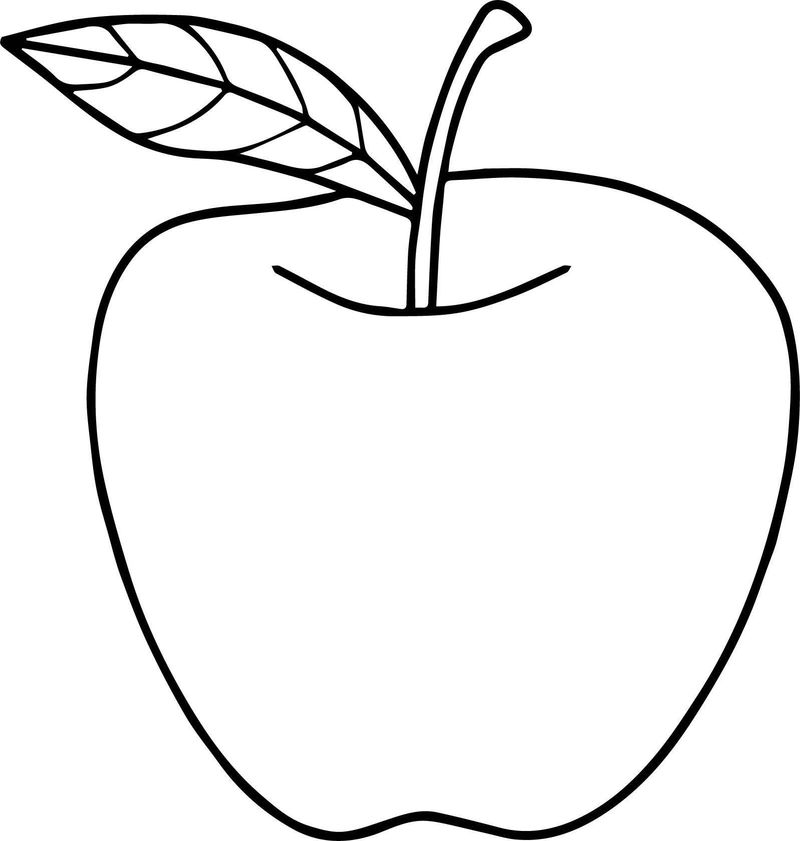 Free Printable Apple Coloring Pages For Kids - Coloring Sheets