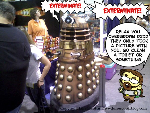 Dalek at the Con Exterminating