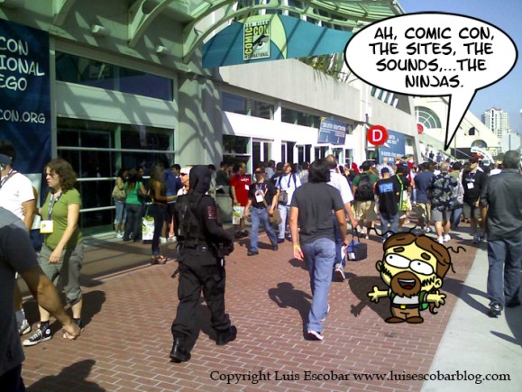 Arriving at Comic Con 2008