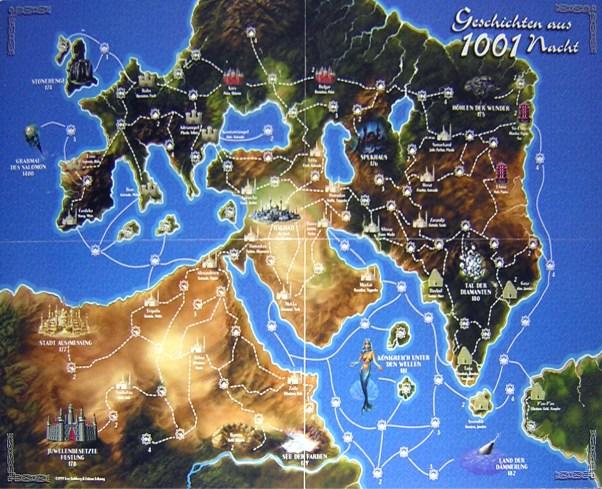 Tales of the Arabian nights map