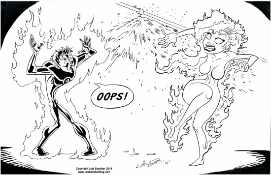 Human Torch vs Fire
