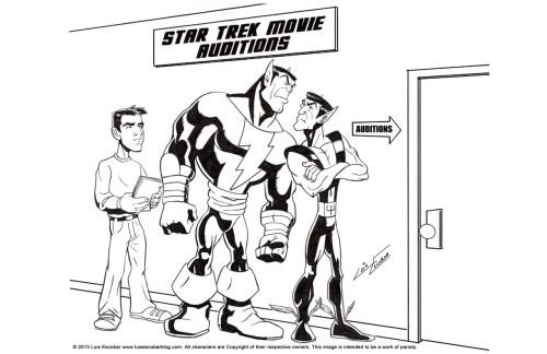 Black Adam vs Namor Black and white