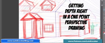 Getting Depth Right In a One Point Perspective Drawing