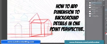 How to Add Dimension to Background Details in One Point Perspective