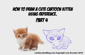 How to draw a cartoon kitten using Ref 04