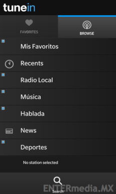 TuneIn Radio en BlackBerry 10