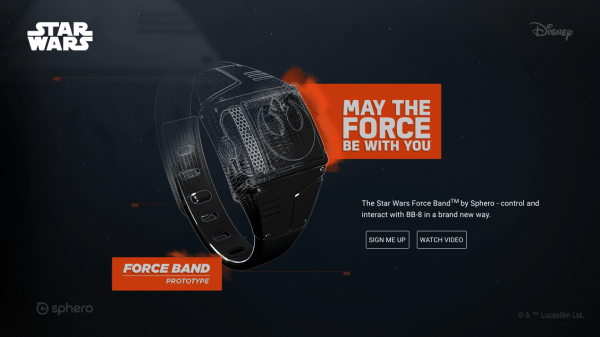 Force Band, para controlar a BB-8